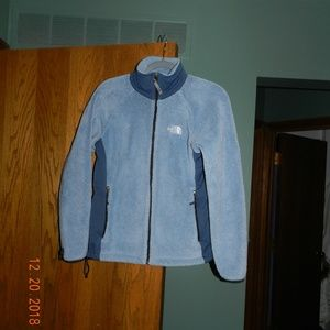 North Face Baby Blue Fuzzy Jacket